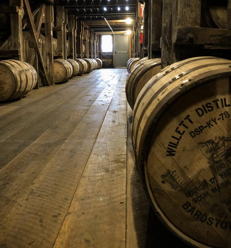 Willett_Distillery_Rickhouse_Barrels