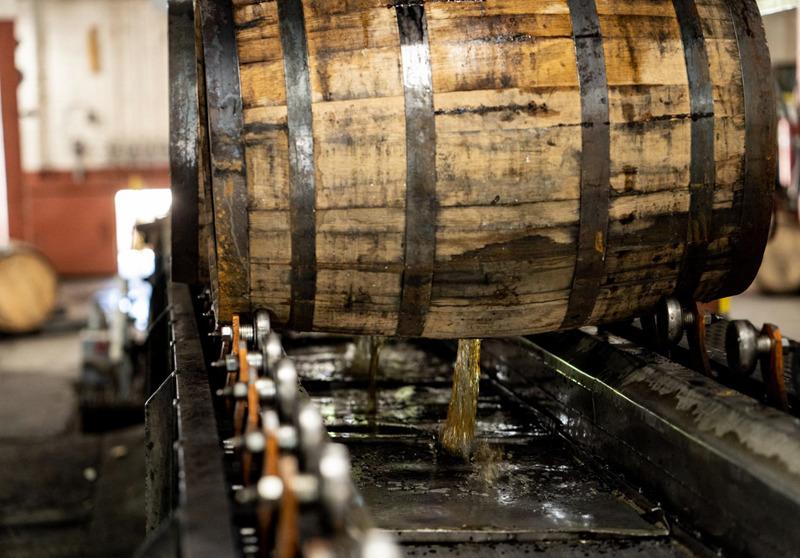 Buffalo-Trace-Distillery-Dumping-Bourbon-Barrel