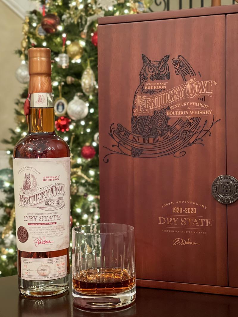 Kentucky Owl Dry State Glass of Bourbon