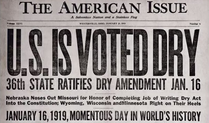 The American Issue Newspaper US is voted Dry headline