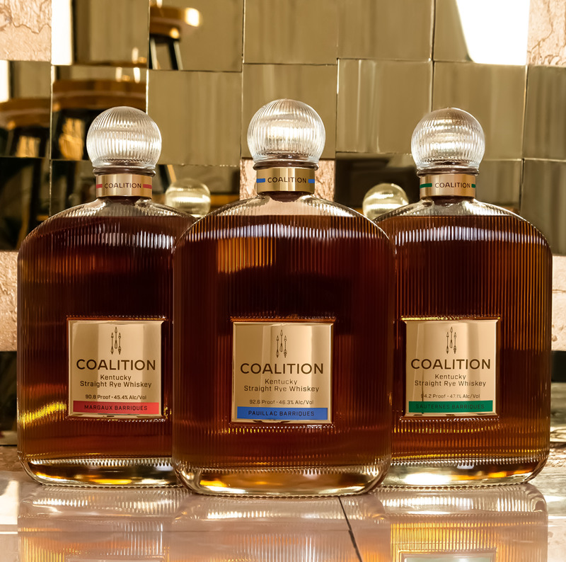 Coalition Whiskey Art Deco Bottles