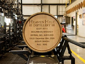 Heaven Hills Distillery Fills 9 million bourbon barrels