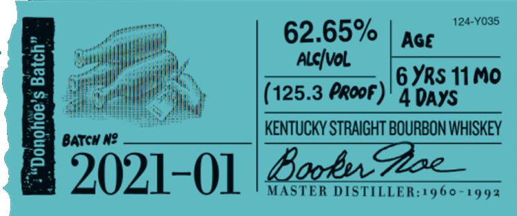 Booker's 2021-01 Label