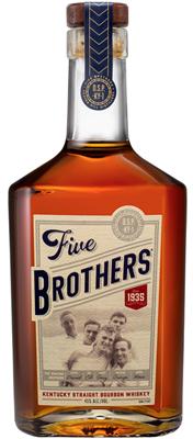 Five Brothers Bourbon Bottle